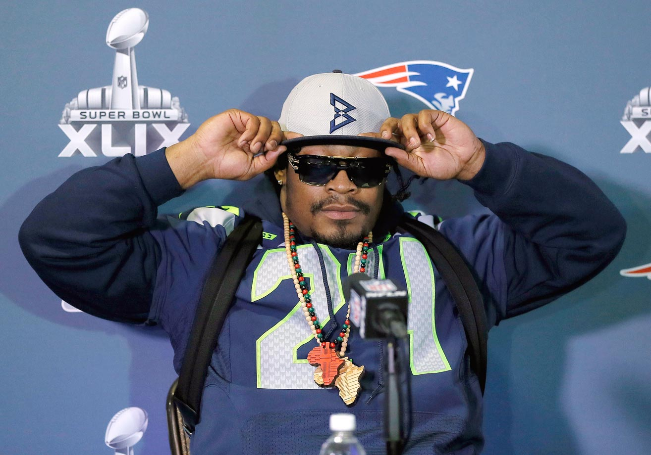 Marshawn Lynch spent yet another day in front of the media on Thursday.