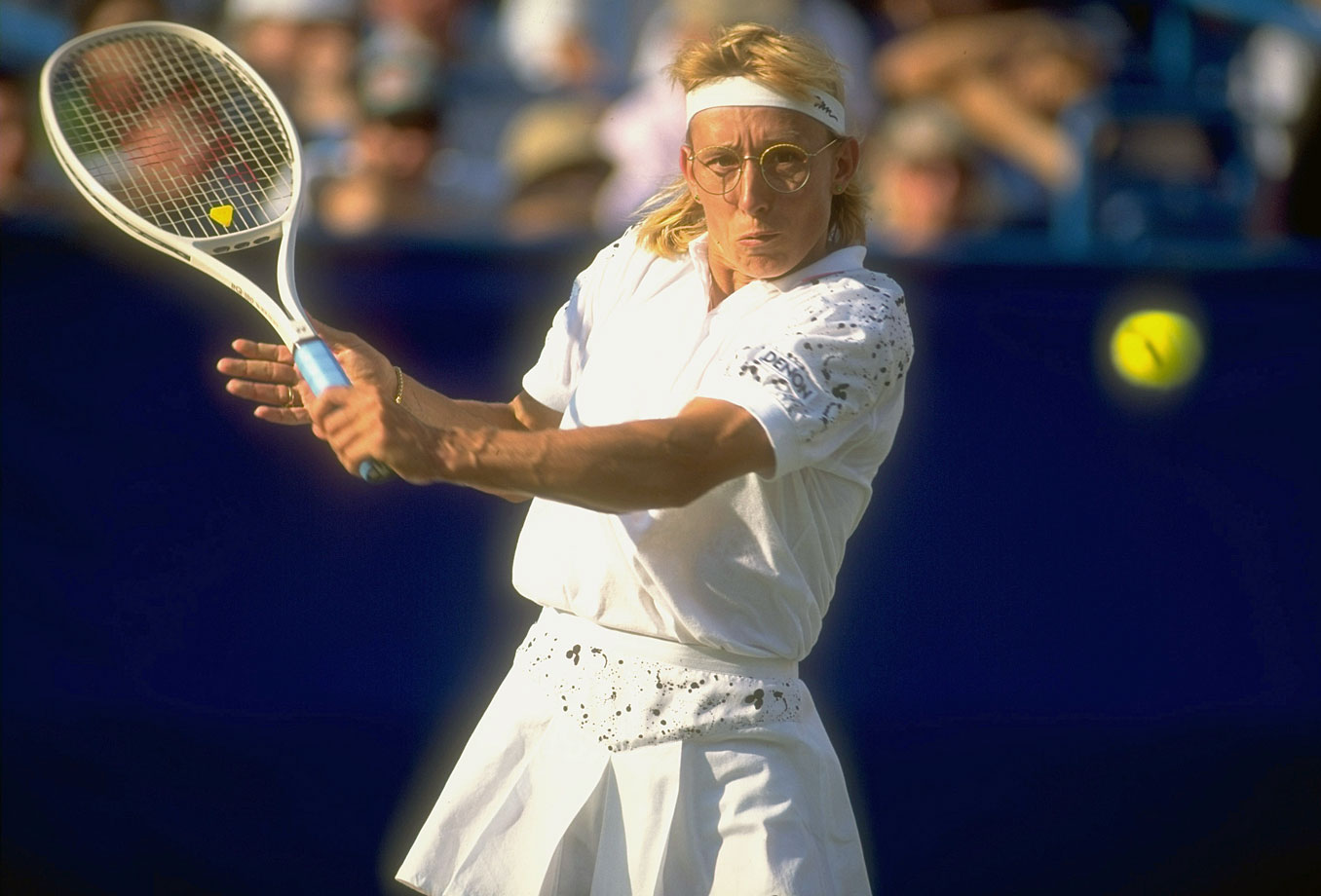 Billie Jean King called Navratilova the greatest singles, doubles and mixed doubles player who's ever lived. On top of that, she did it playing left-handed.