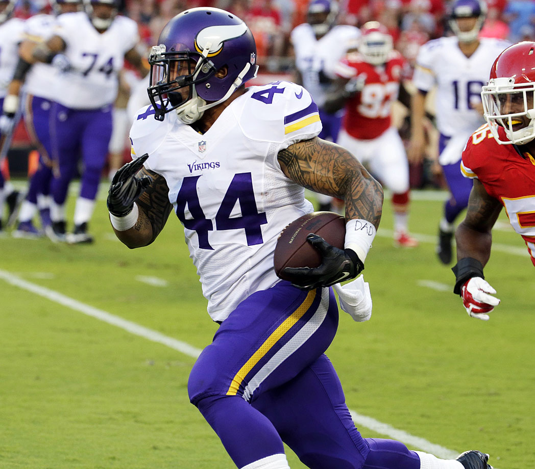 Obviously, Asiata isn't going to help a fantasy owner unless Adrian Peterson gets injured. But if he gets a chance at regular carries, the Utah product is capable of producing in Norv Turner's offense.
