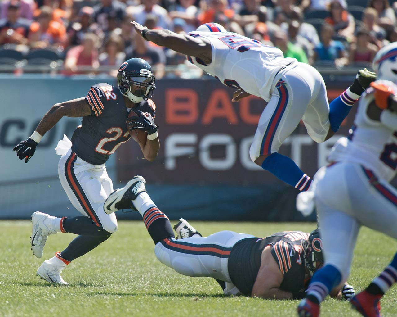 Matt Forte had 17 carries for 82 yards in Chicago's overtime loss to Buffalo.