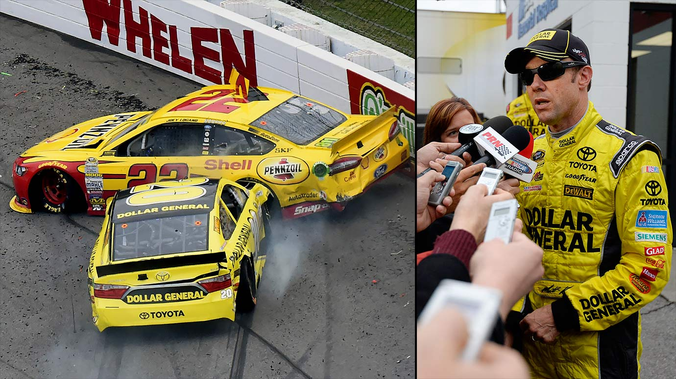 Earlier this month at Martinsville, Kenseth decided to deliberately crash into Joey Logano late in the race as revenge for a collision two weeks prior. The stunt earned Kenseth a two-race suspension.