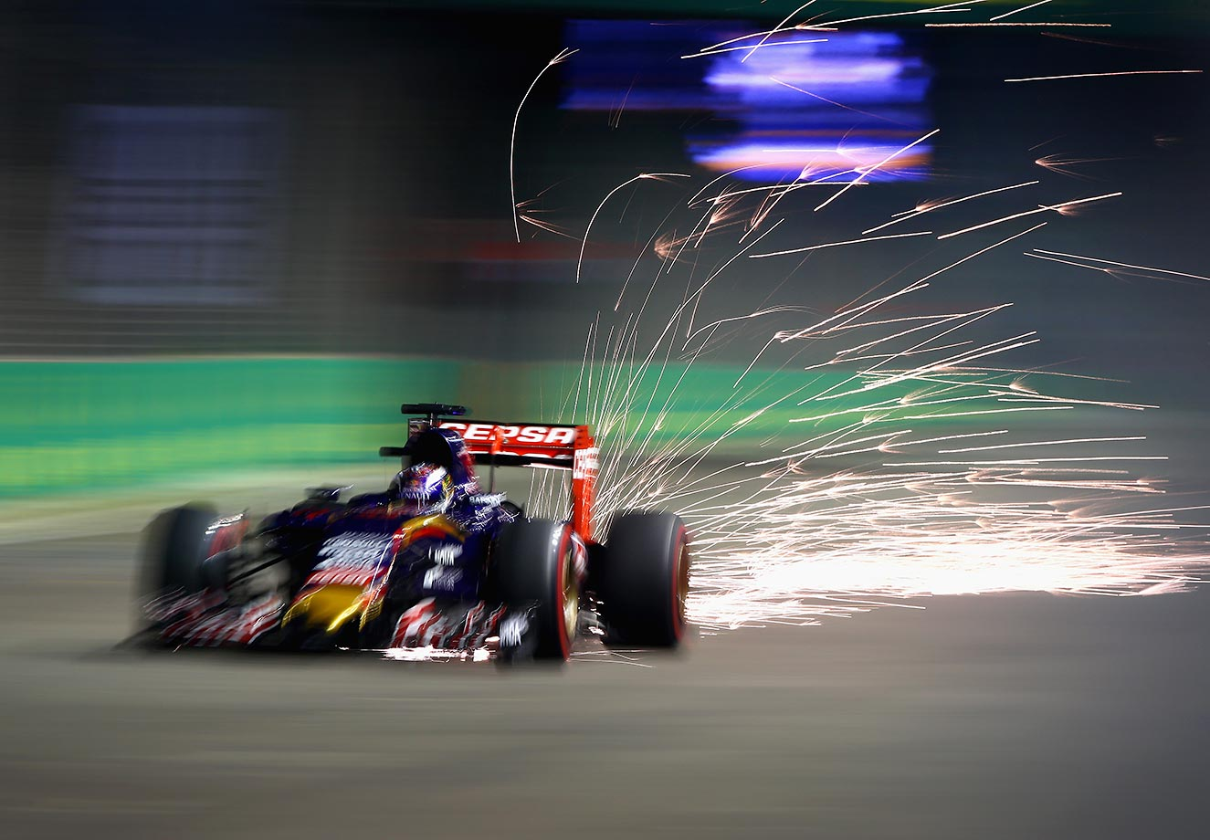 Max Verstappen during qualifying for the Formula One Grand Prix of Singapore.