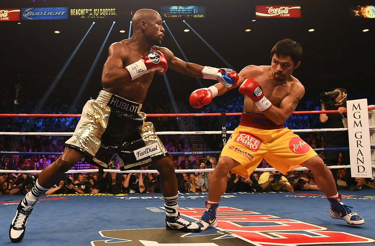 By winning the welterweight bout, Mayweather cemented his legacy as the best of his generation. (AP)