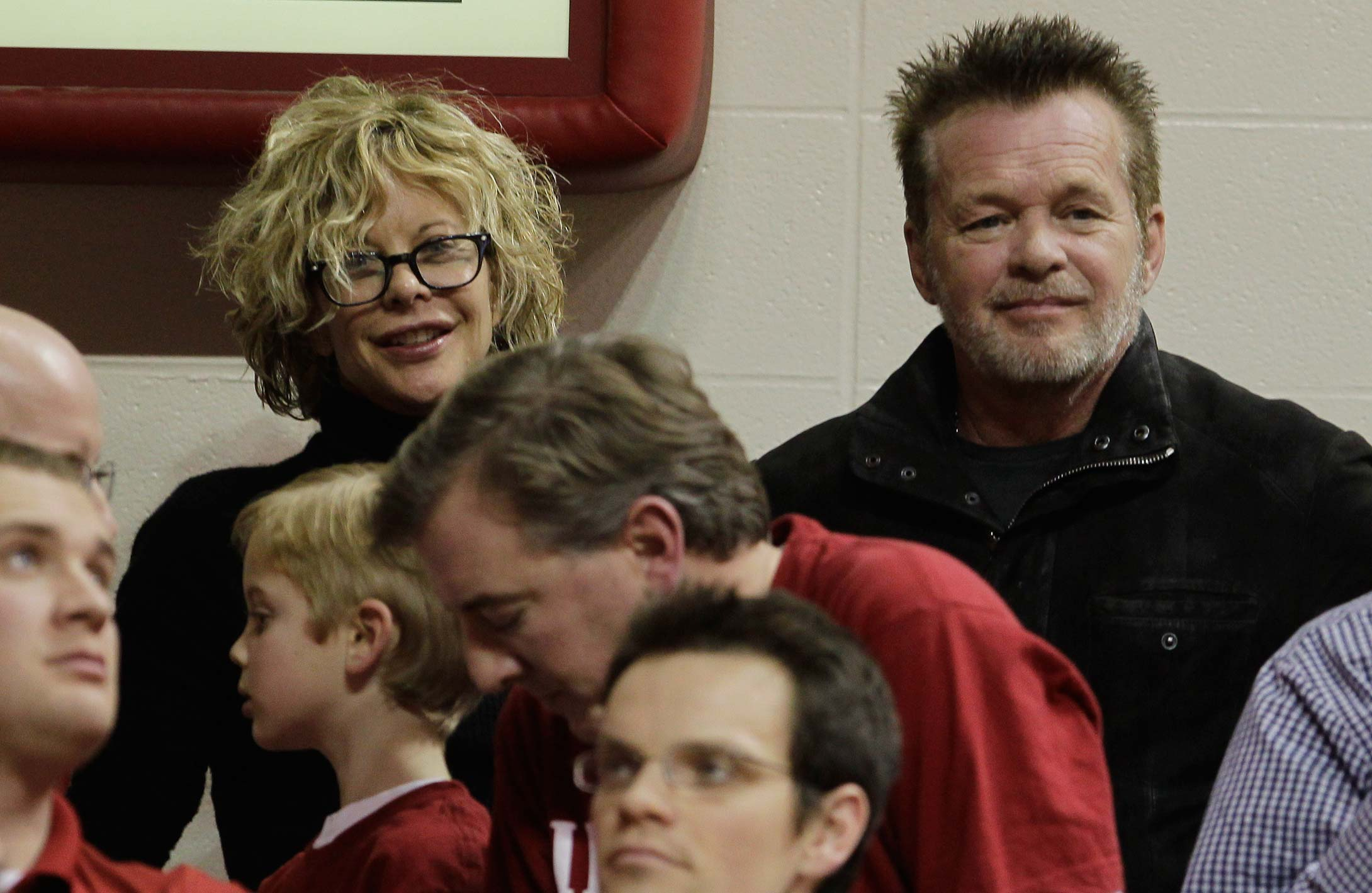 Meg Ryan and John Mellencamp during a 2011 game between Indiana and Ohio State in Bloomington, Ind.