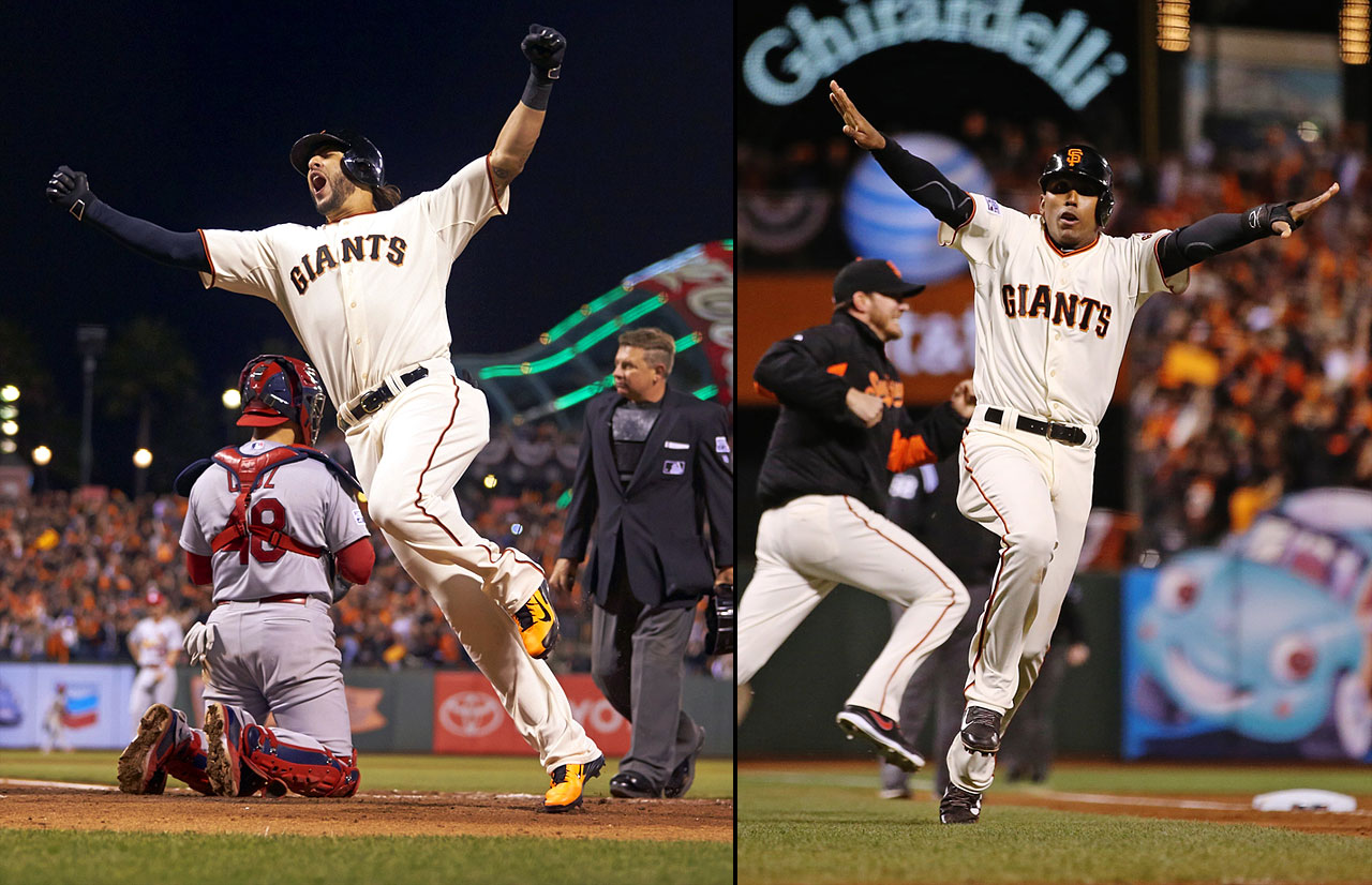 Michael Morse ties Game 5 of the NLCS in the eighth inning with a home run (4,300 tweets per minute), and then Travis Ishikawa hits a three-run, walk-off homer to win the game (23,000 tweets per minute), sending the Giants to the World Series.