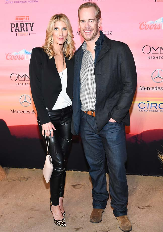 Michelle Beisher and Joe Buck
