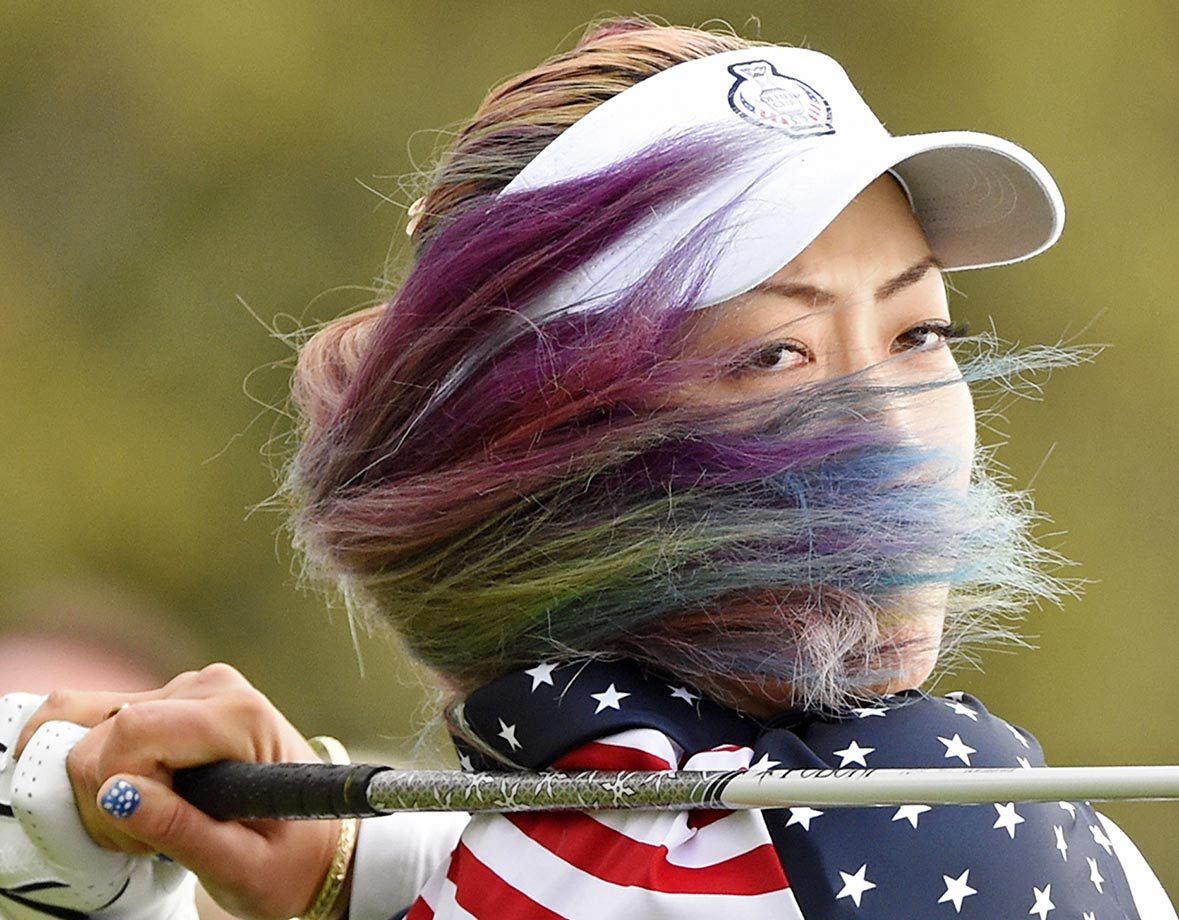 Michelle Wie during Day 3 of the Solheim Cup.