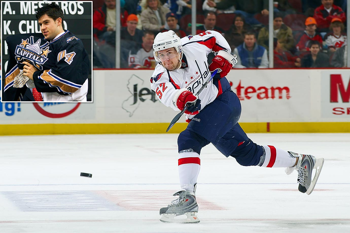 On Feb. 27, 2004, the Capitals sent Robert Lang to Detroit for Tomas Fleischmann, a first-rounder and a 2006 fourth-rounder. The '06 pick was a bust (Luke Lynes) but the Caps did all right with #29 in '04. Green went on to become one of the game's premier offensive blueliners, ranking top-five in franchise history in goals (113) and points (360) by a defenseman.