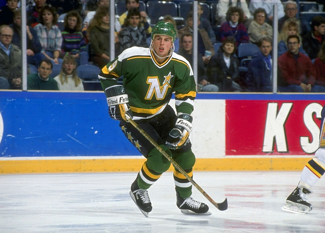 The first player chosen in the 1988 draft, Modano went on to become the face of the Minnesota North Stars/Dallas Stars franchise, with whom he played in 21 of his 22 NHL seasons. Arguably the finest U.S.-born player of all time, he now holds the NHL career marks for goals (561) and points (1,374) by an American.