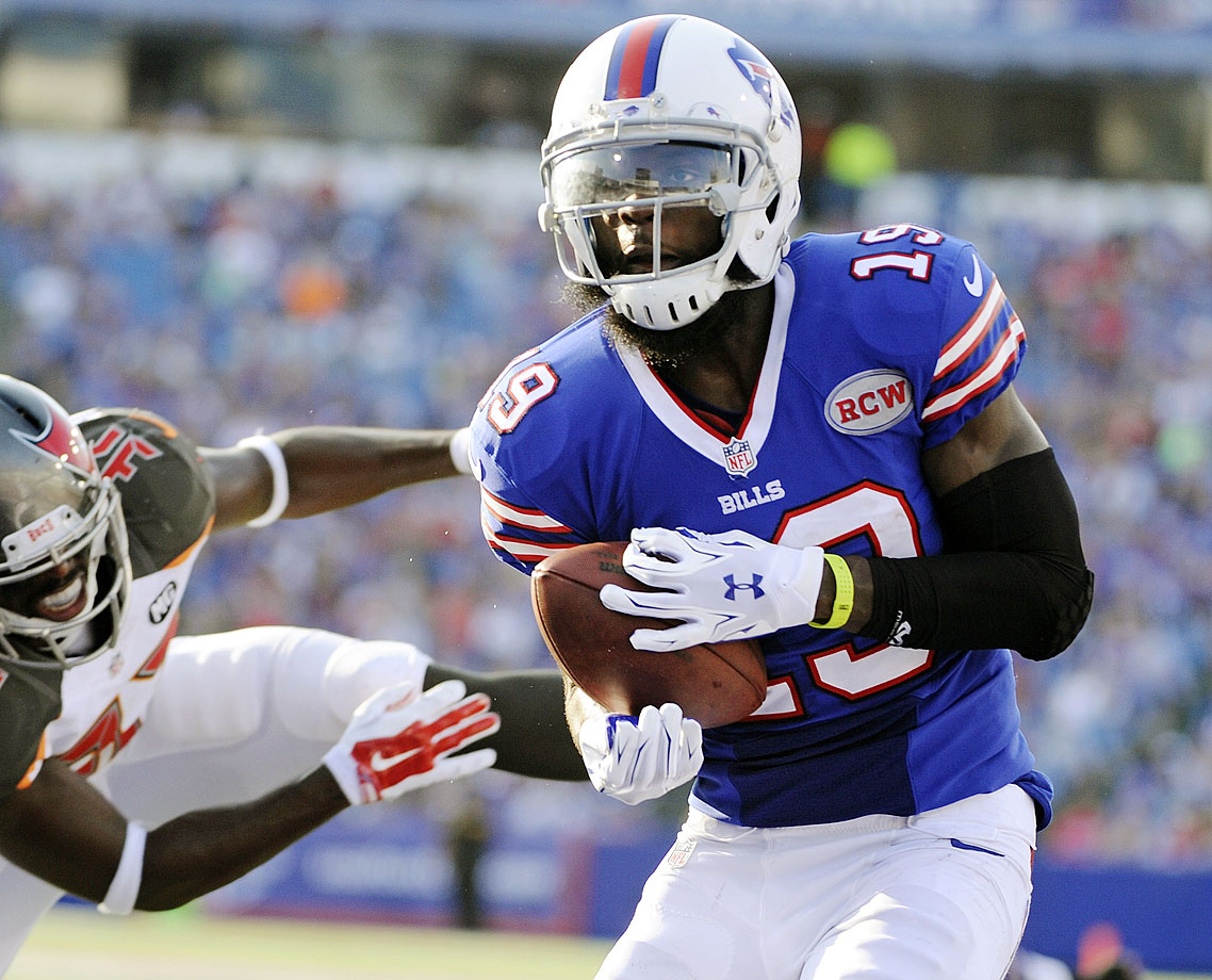 Williams always seems to be an afterthought and this season is no different. He's a red-zone threat who earned a starting gig with a nice preseason. It's too bad E.J. Manuel is the guy throwing him passes, because he's severely underrated as a fantasy asset.