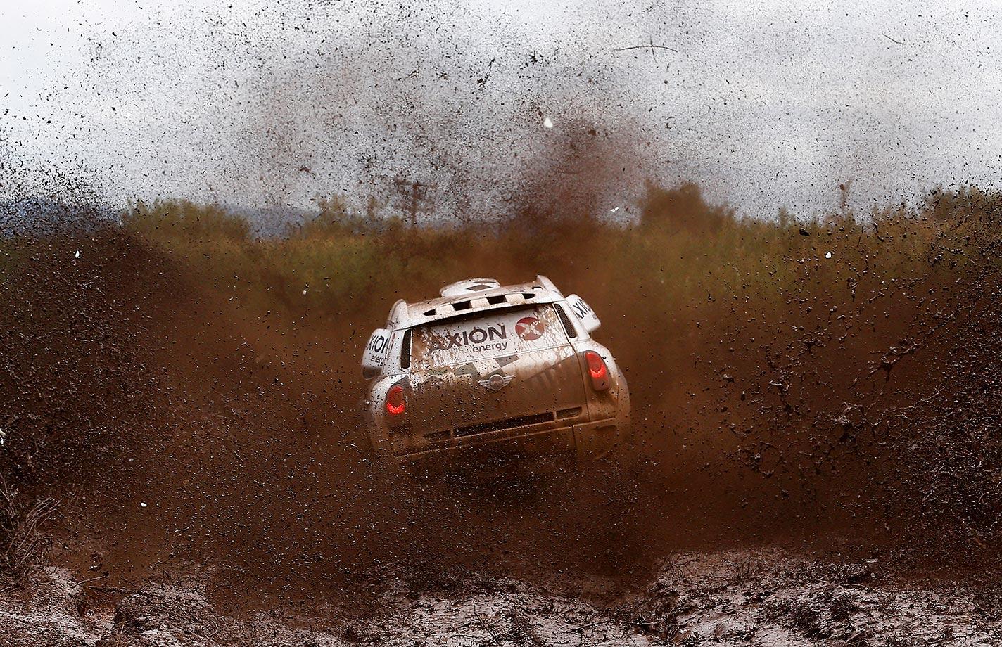 Mikko Hirvonen and Michel Perin at the 2016 Dakar Rally.