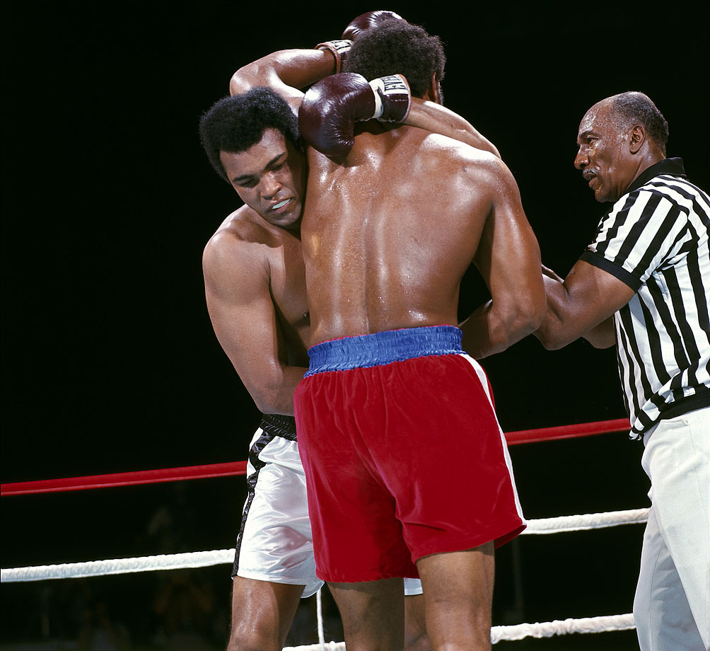Just as he announced his plan to trainer Angelo Dundee and fans ahead of time, Muhammad Ali continued to talk during the fight, talking trash to George Foreman during every clinch.