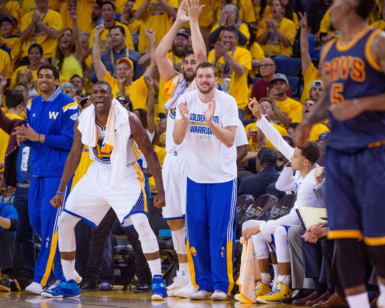 The Warriors rallied from an early 14-point deficit, much to the delight of their bench and their fans.
