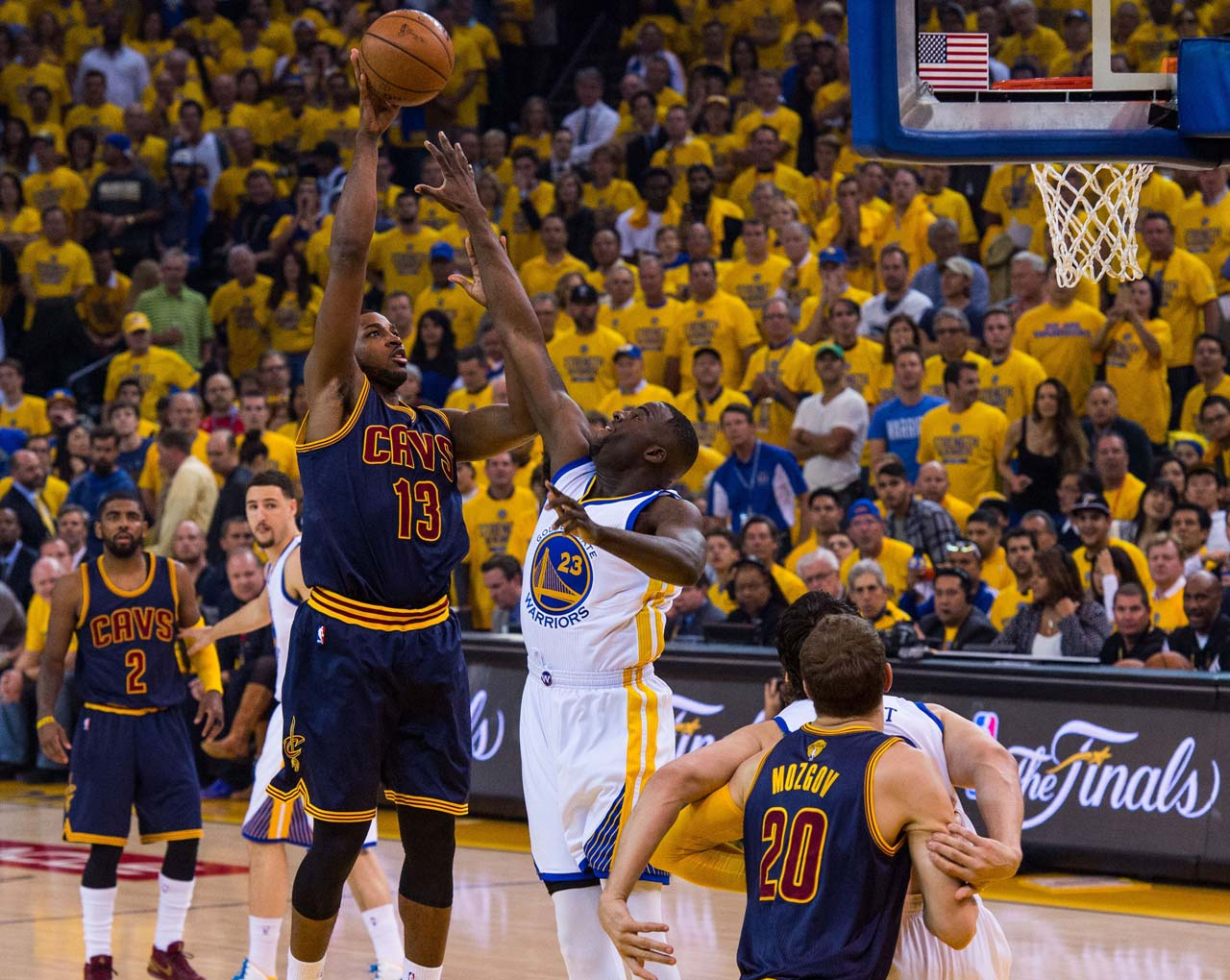 Tristan Thompson played a team-high 47 minutes for Cleveland, scoring two points and pulling down 15 rebounds.