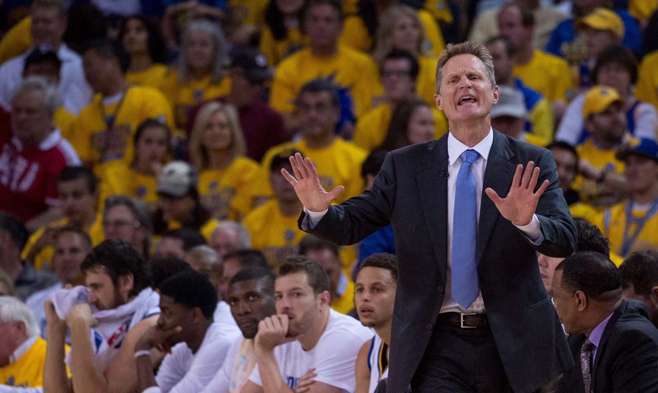 Steve Kerr and the Warriors missed a golden chance to go ahead two games to none.