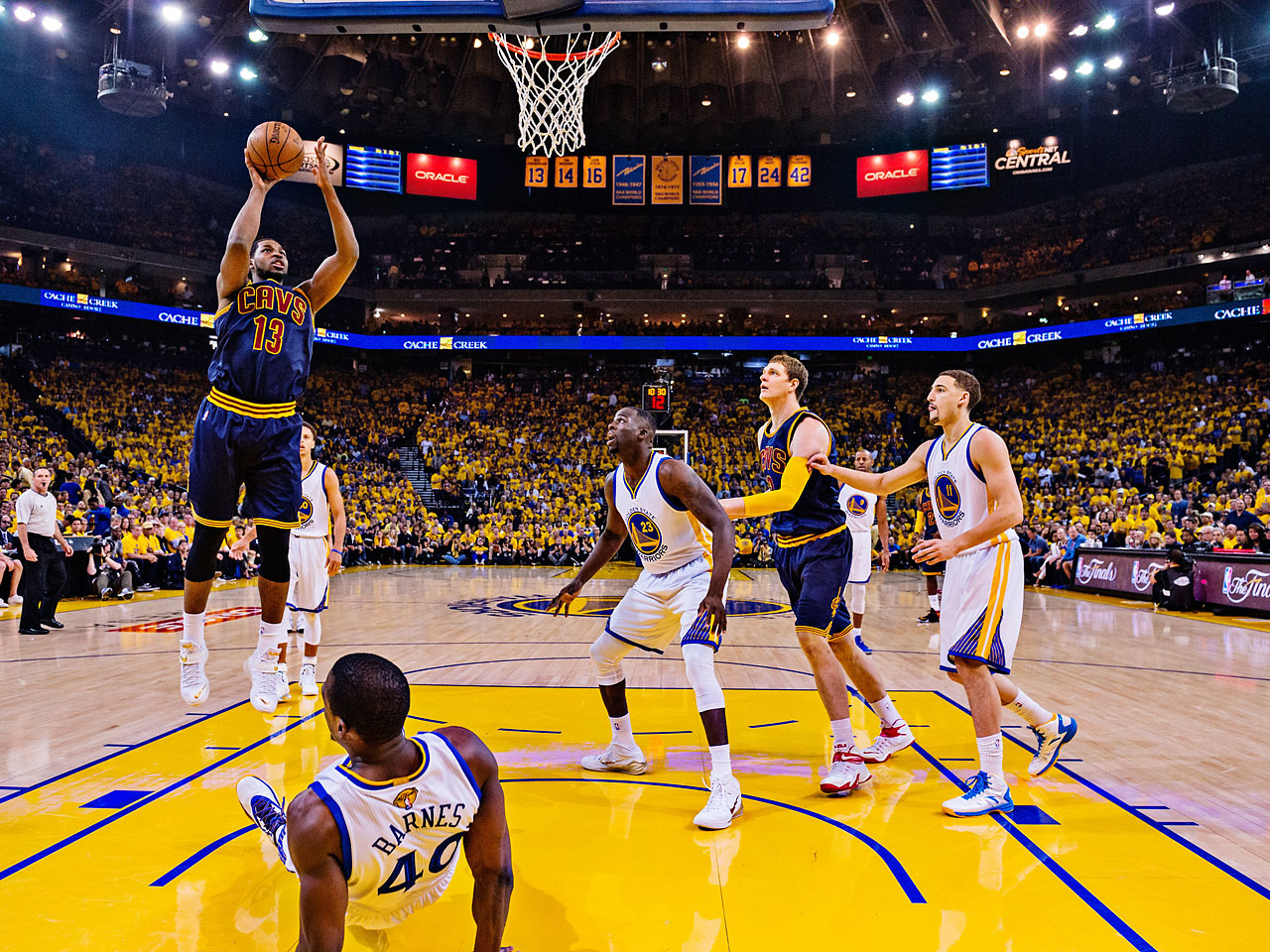 Tristan Thompson was Cleveland's second-leading scorer -- 19 points in 40 minutes of action.