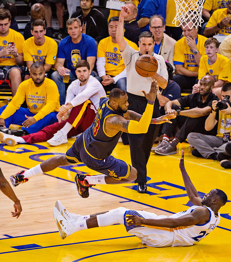LeBron James scored or assisted on 16 of Cleveland's 17 field goals in the half. He struggled to supply the same power in the third quarter, scoring just four points and handing out one assists. (Text credit: AP)