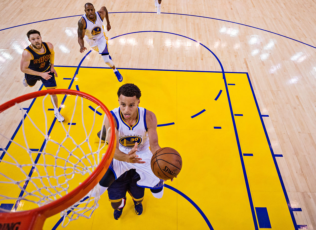 Steph Curry played like the league's MVP in Game 5 of the NBA Finals, scoring 37 points to move Golden State to within one victory of claiming the NBA title.
