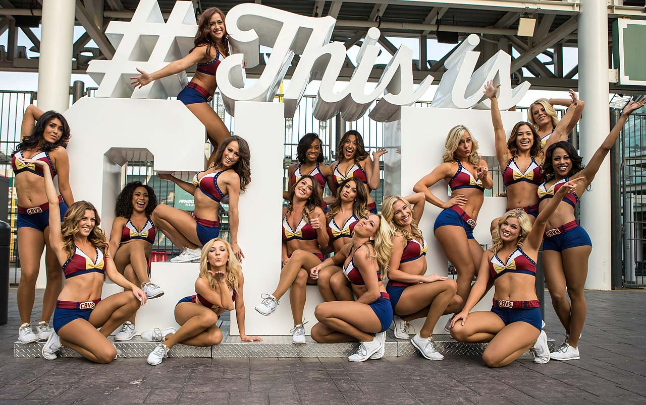 The Cavaliers Girls participate in Cavs Fan Fest outside Quicken Loans Arena prior to Game 4.