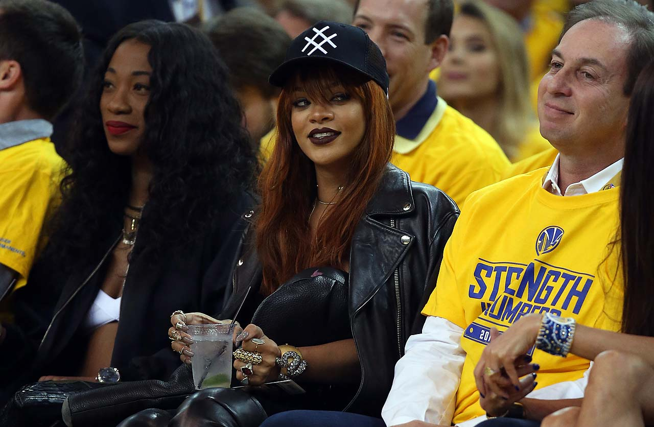 Singer Rihanna at Game 1 of the NBA Finals.