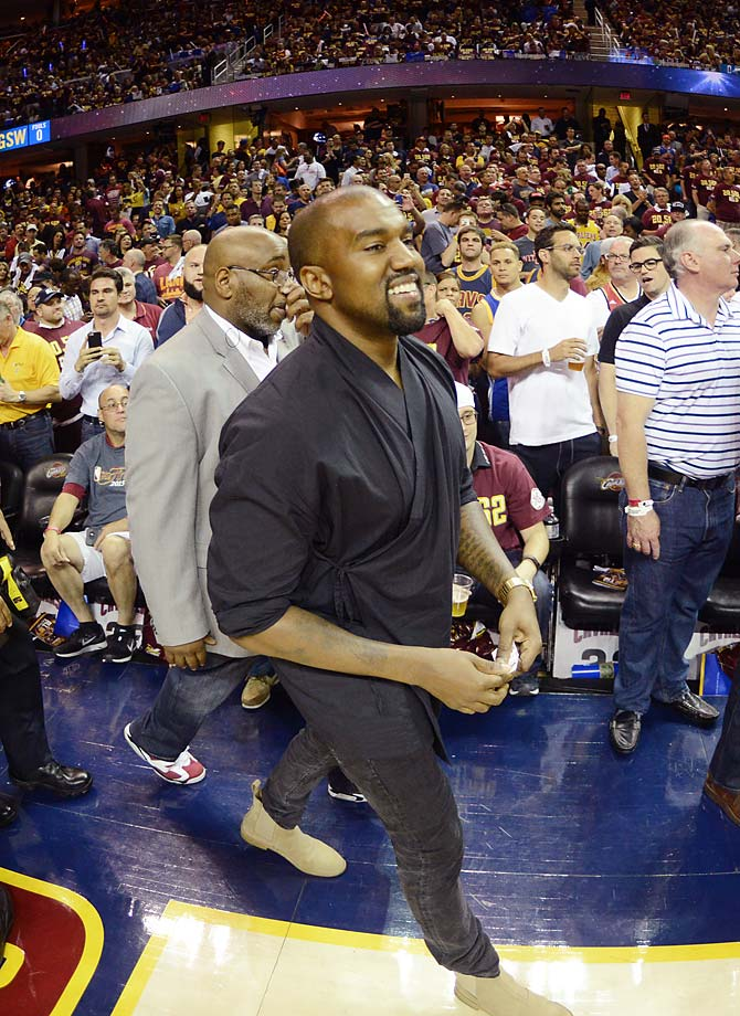 Kanye West at Game 4.