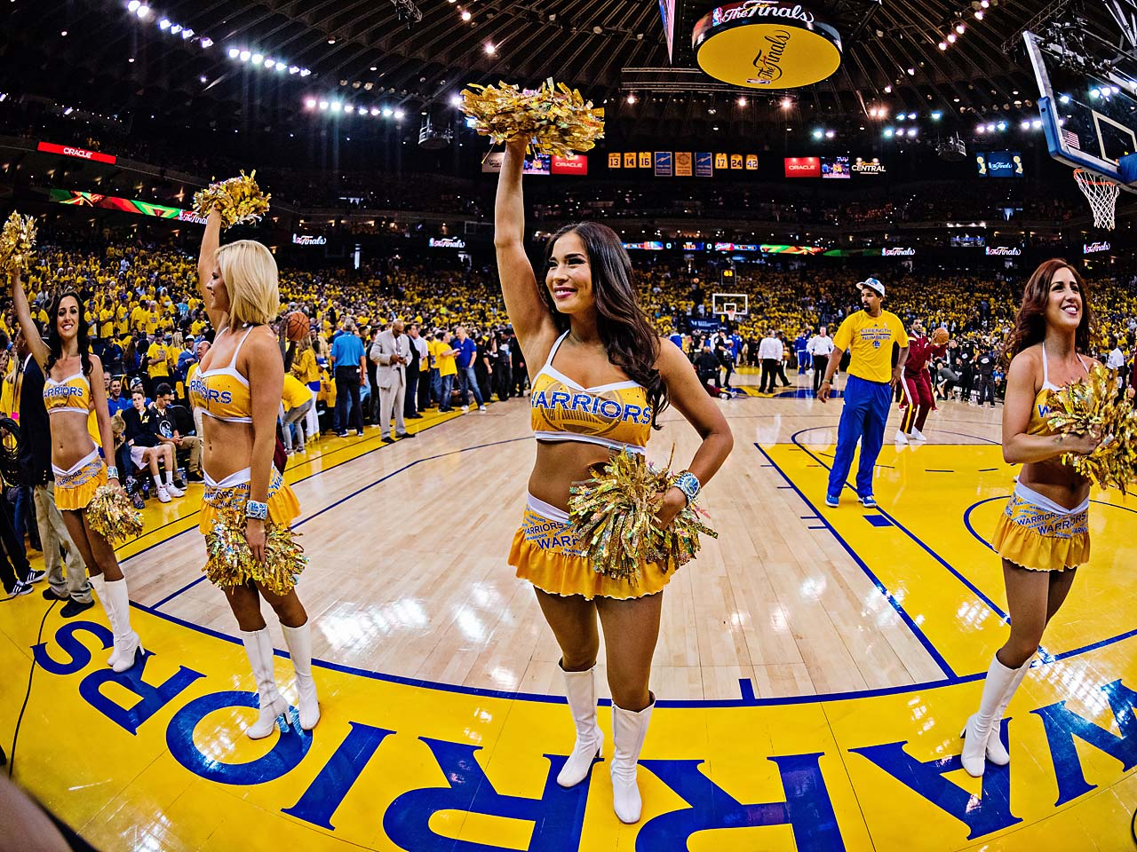 The Warriors cheerleaders.