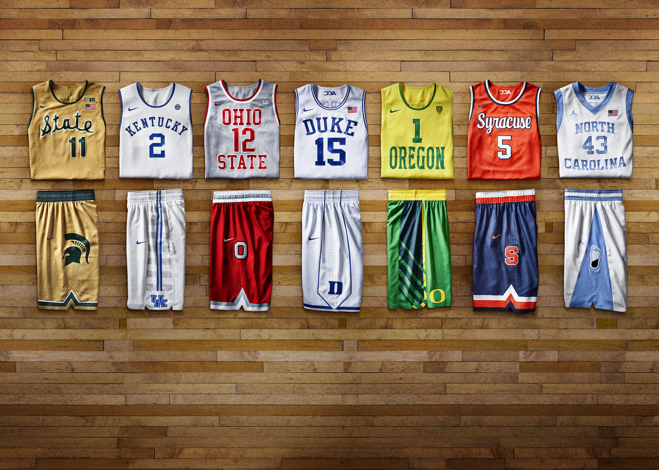 9bc46721862f The evolution of Nike s college basketball uniforms