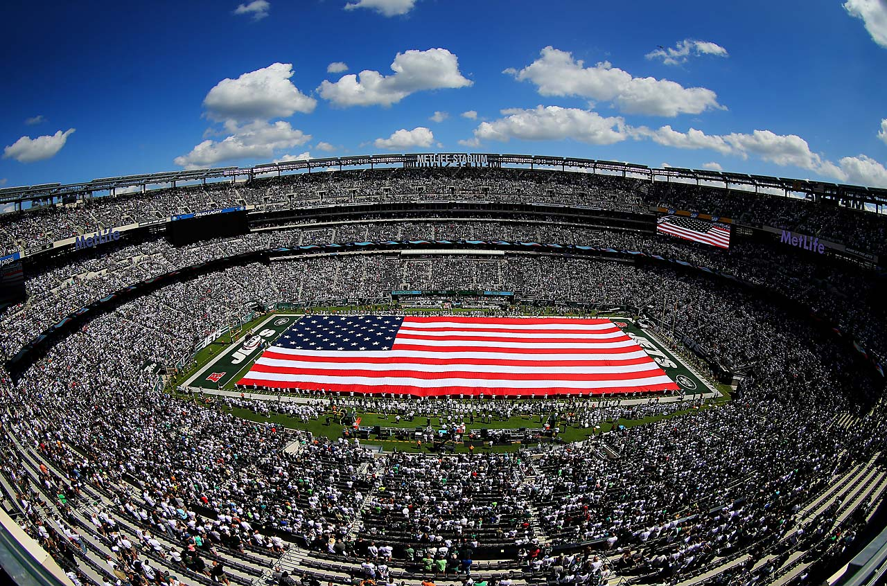 The scene at MetLife Stadium.