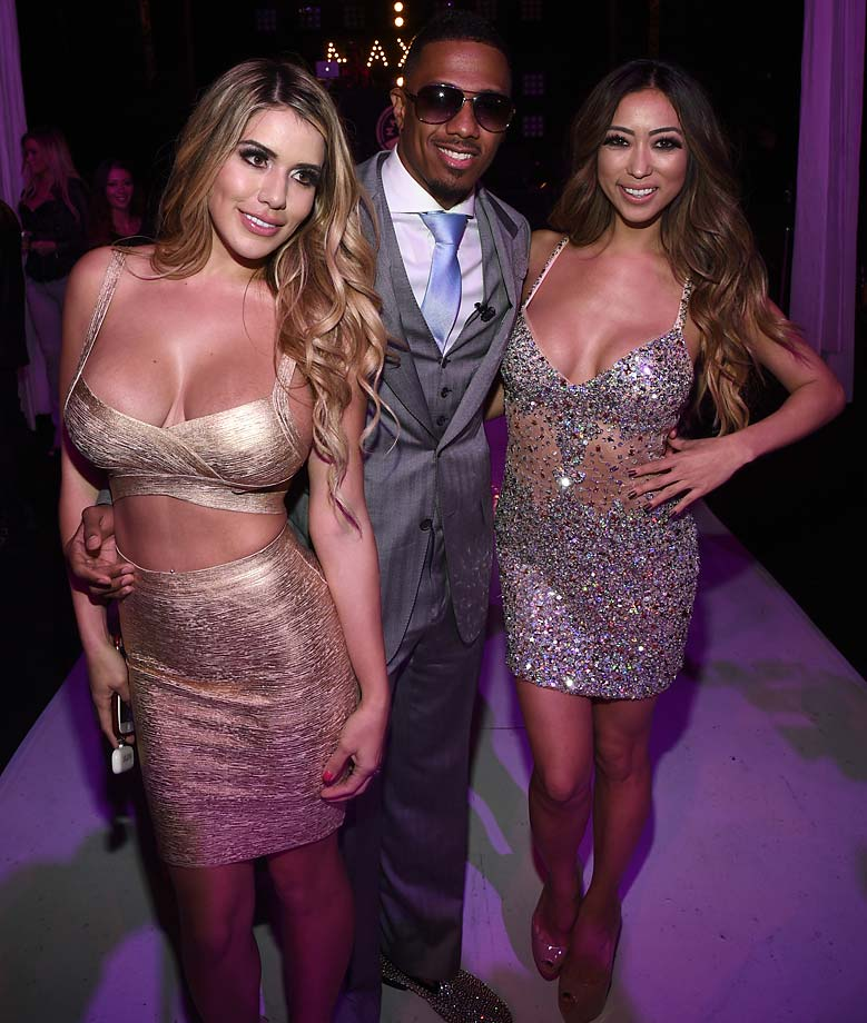 Chantel Zales, Nick Cannon and Arika Sato