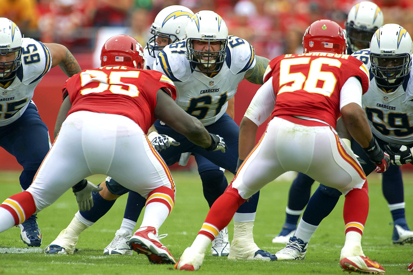 Longtime Chargers center Nick Hardwick retired Feb. 3 after 11 NFL seasons, all spent in San Diego. Hardwick started all 136 games in which he appeared, including every Chargers contest between 2010 and 2013. He also appeared in 10 playoff games across six postseason appearances, snapping the ball to Pro Bowl quarterbacks Drew Brees and Philip Rivers. He was a five-time Chargers captain and was selected to the Pro Bowl in 2006.
