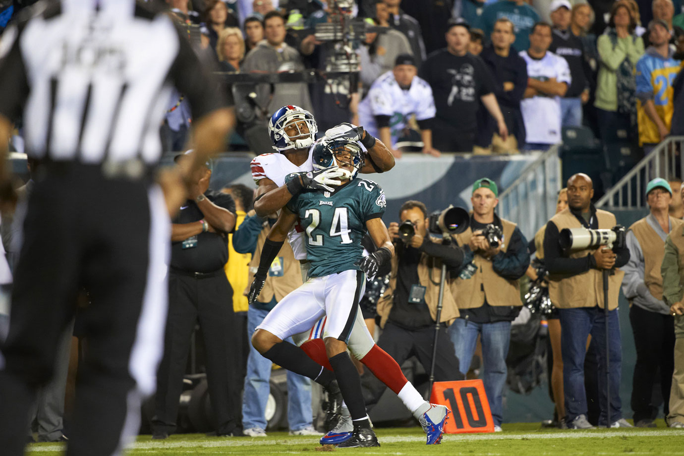 When the Eagles signed All-Pro cornerback Nnamdi Asomugha to a five-year, $60 million contract in 2011, Philadelphia looked like a Super Bowl contender. Asomugha had played eight years in Oakland, where he was a three-time Pro Bowler and two-time All-Pro. Instead, Asomugha did not live up to the hype, and the Eagles failed to make the playoffs in either of his two seasons in Philadelphia. The Eagles released Asomugha during the 2013 offseason.