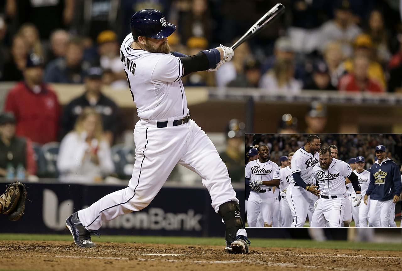 Derek Norris redeemed himself after four strikeouts when he blasted a grand slam in the ninth inning to give San Diego a 6-2 victory over the Pittsburgh Pirates on May 29.