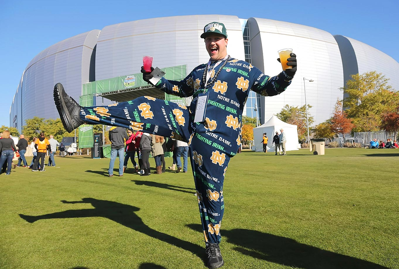 This is a pretty happy Notre Dame fan at the Fiesta Bowl.