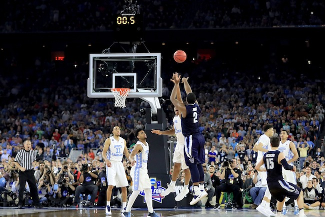 "...except that no one told Villanova. Wildcats coach Jay Wright later told broadcaster Jim Nantz that in the huddle with 4.7 ticks left they set up their end-of-game play, which was to get the ball to guard Ryan Arcidiacono and have him make the best decision. Wright said, ""Kris [Jenkins] told him he was going to be open. Arch made the perfect pass, and Kris Jenkins lives for that moment."" Then it happened, just like they practiced. Arch had 16 points and two assists, and Jenkins had 14 points in the game. Yet one unselfish pass and one pressure-defying basket with less than one second remaining turned this fairy tale into One Shining Moment for the history books. Villanova senior forward Daniel Ochefu summed it up while holding the trophy: ""Dreams have come true tonight."" Sweet dreams, Villanova Wildcats. Sweet dreams."