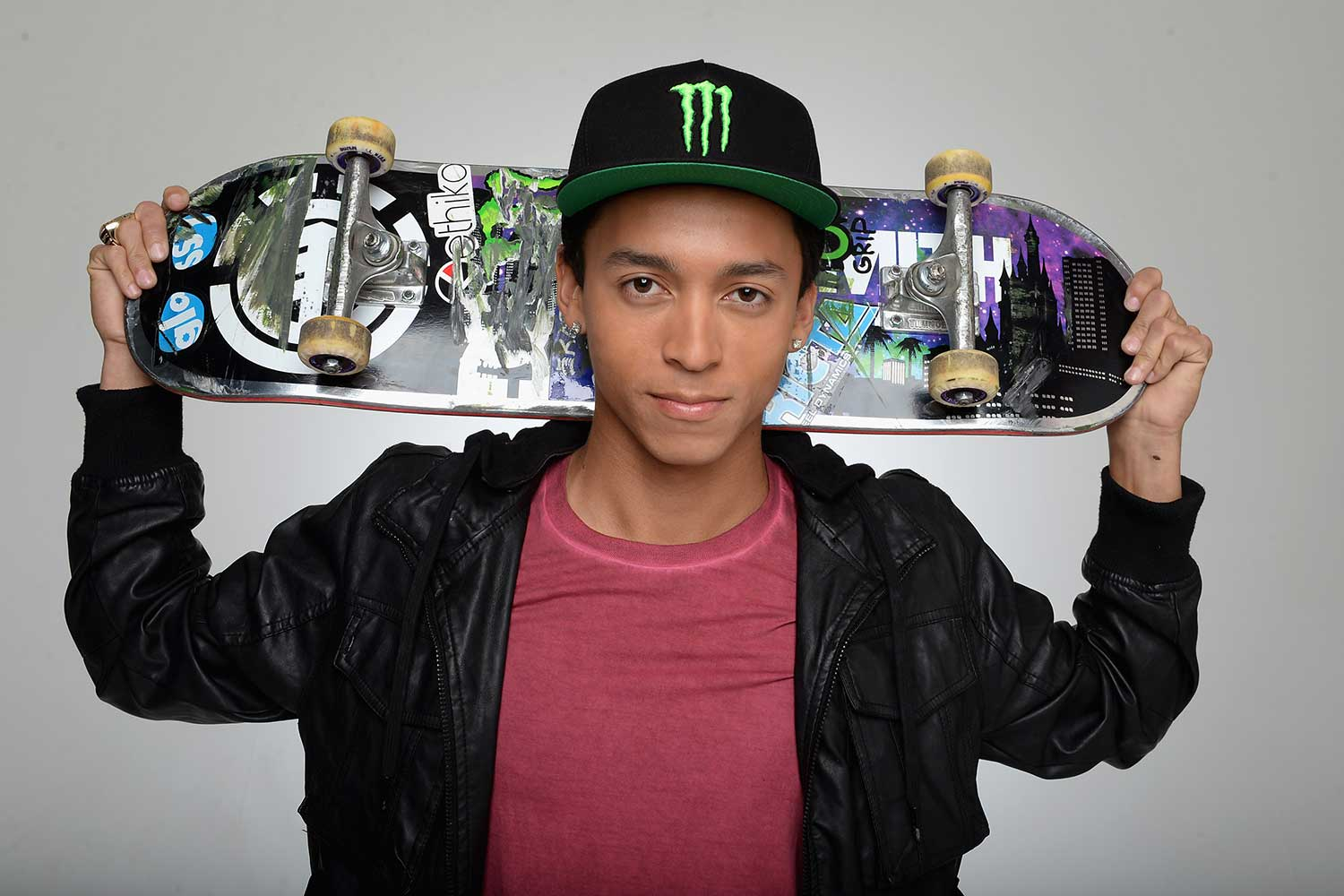 """Professional Skateboarder: Element Skateboards, DC Shoes, Monster Energy, AYC Apparel, Diamond Supply Co. Ricta Wheels, Mob Grip, Stance Socks, Lance Snacks"" Keep up with Nyjah on Instagram @nyjah_huston."