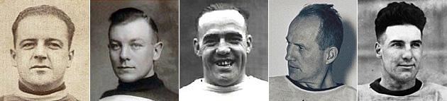 Odie Cleghorn, Punch Broadbent, King Clancy, Hap Day, Babe Dye