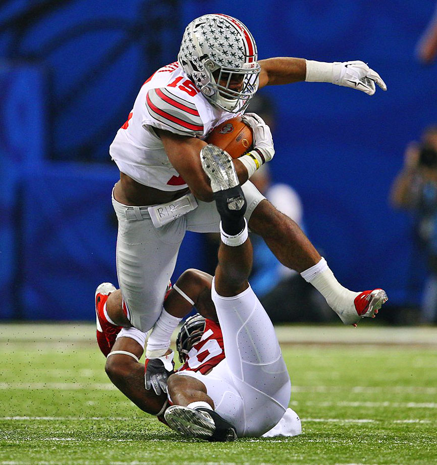Ezekiel Elliott ran for a Sugar Bowl-record 230 yards and scored twice, including an 85-yard touchdown run that essentially clinched the Buckeyes victory with 3:24 remaining.