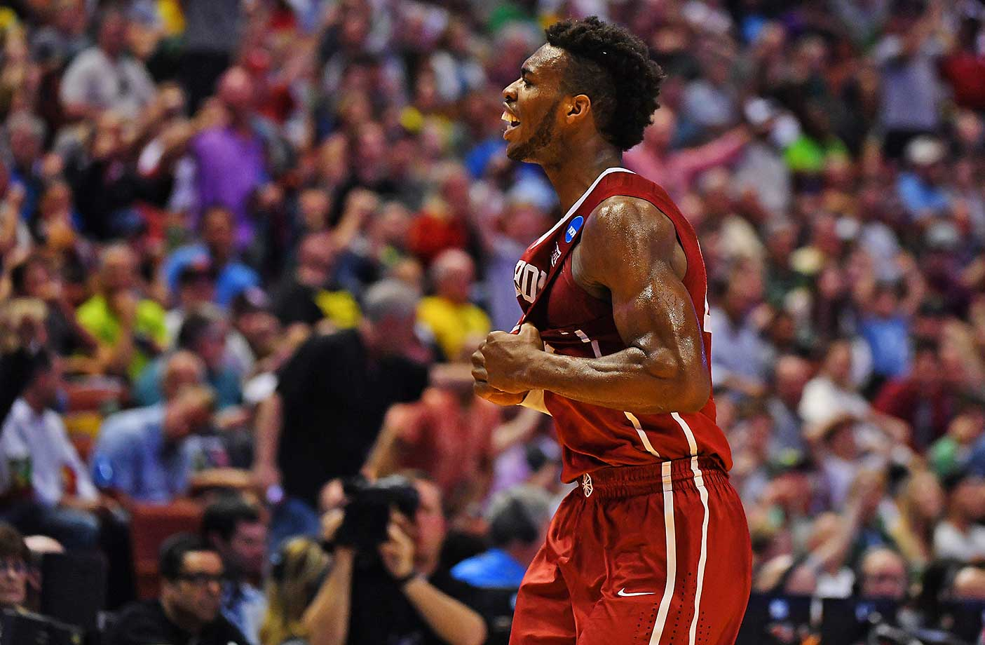 Buddy Hield's 37 points were two more than the rest of the Oklahoma starters combined.