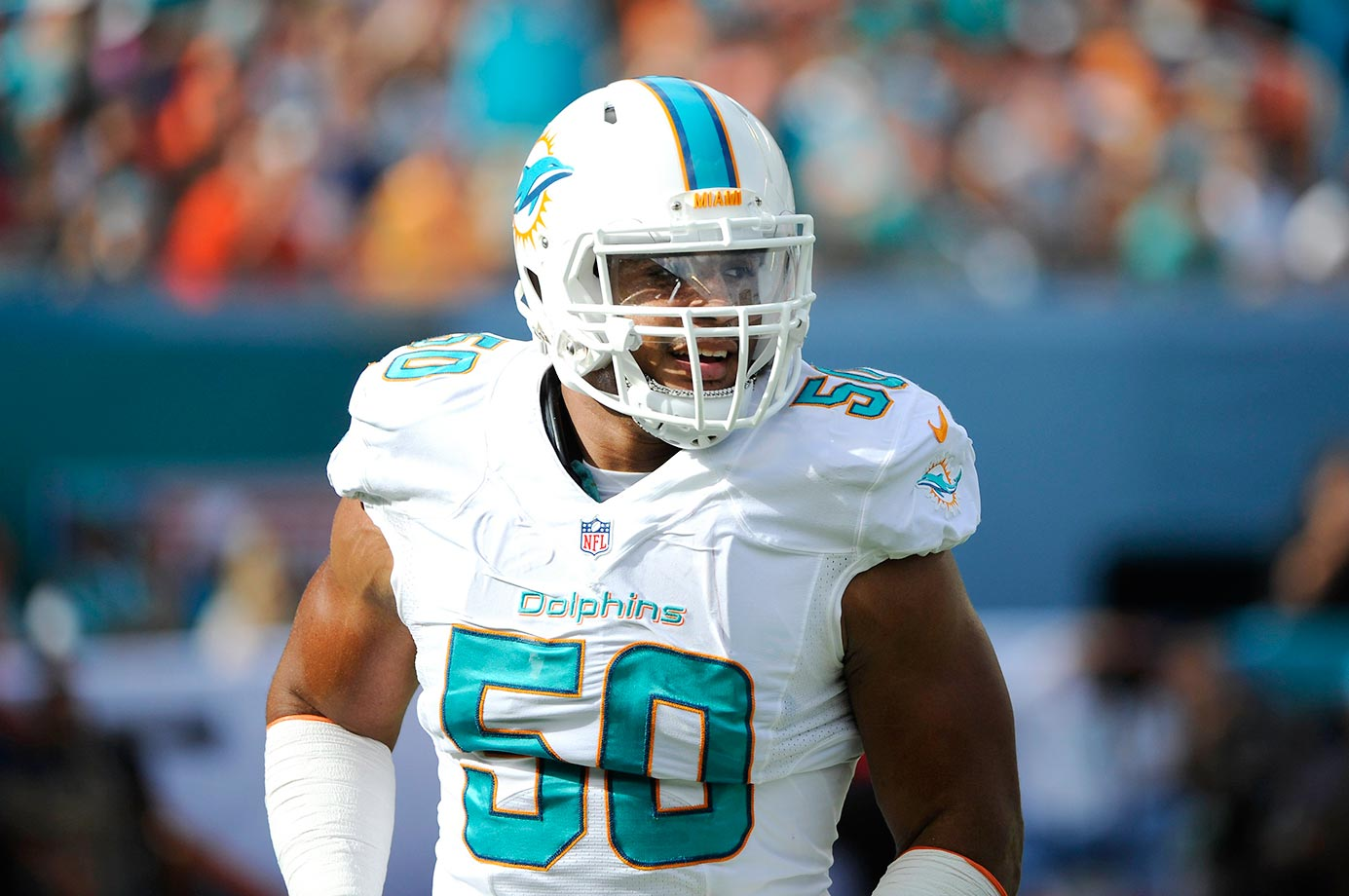 With Cameron Wake and Ndamukong Suh killing offensive lines on one side of Miami's front four this season, Vernon will get a whole bunch of single-teams in his fourth NFL season, and he has the talent to take advantage. His sack totals dropped from 11.5 in 2013 to 6.5 last year, but he had 48 total pressures in 2014.