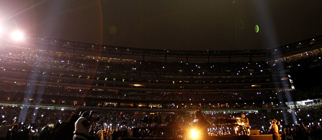 Commemorating the 10th anniversary of 9/11 at MetLife Stadium during Cowboys vs. Jets.