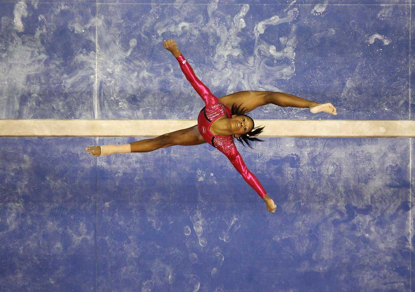 Gabby Douglas at the 2012 U.S. Olympic gymnastics trials.