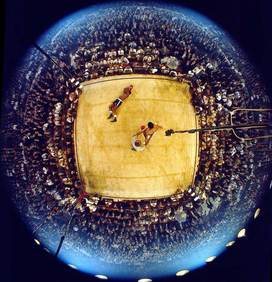 In a fight that lasted just two minutes and eight seconds, Neil Leifer captured this memorable photo of Muhammad Ali's knockout of Sonny Liston in 1965.