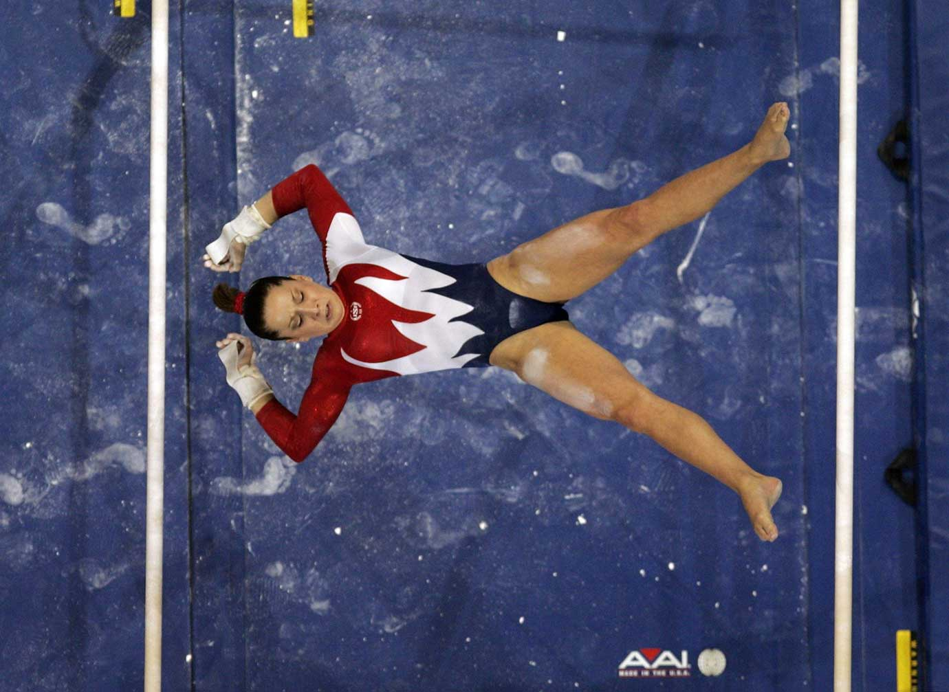 The scene from the 2004 U.S. Olympic Gymnastics Trials.