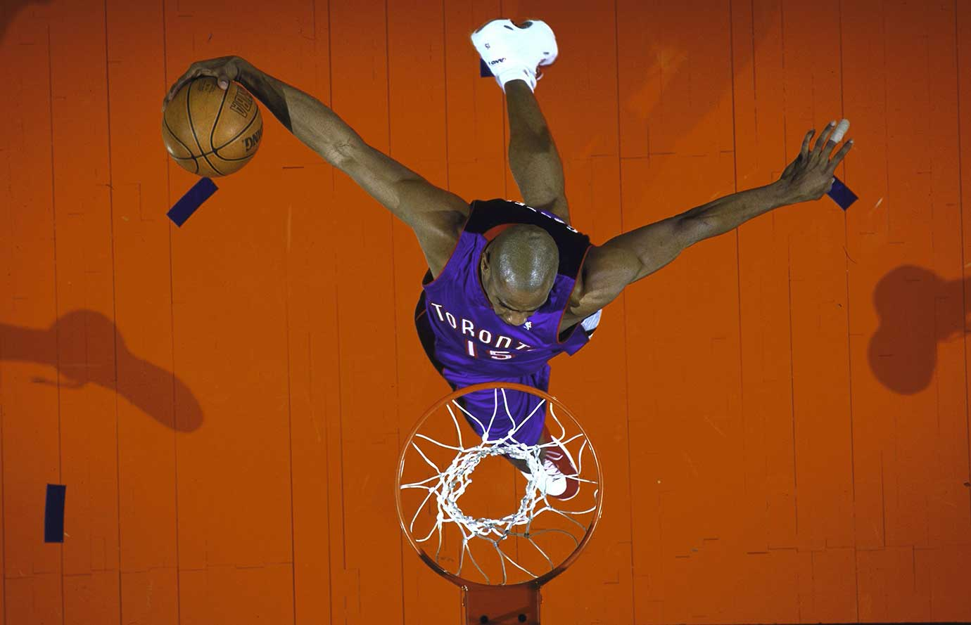 Toronto's Vince Carter at the 2000 NBA All-Star Weekend Slam Dunk Contest.