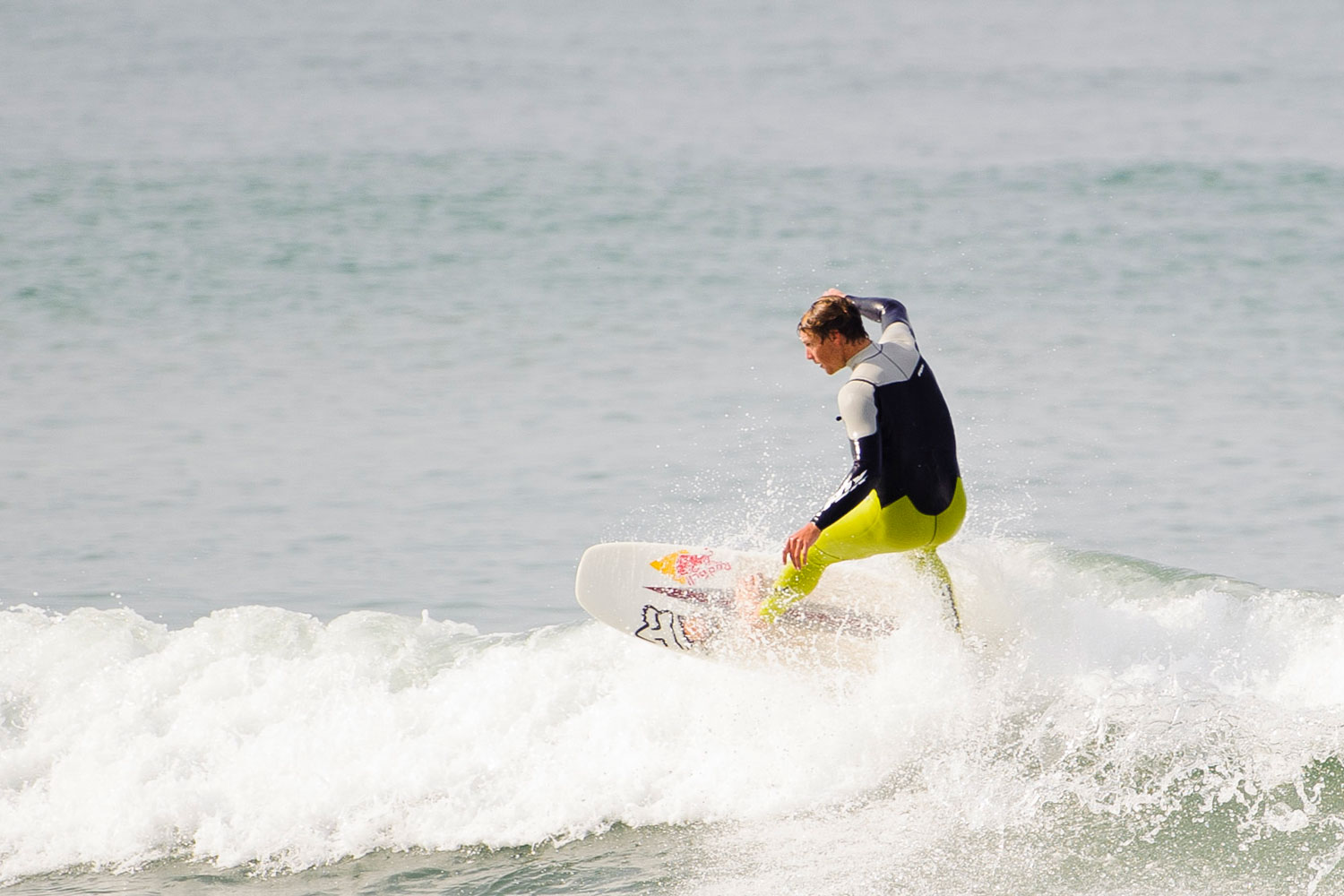 Ian Walsh crashes through a wave at the Red Bull Switchboard event held on March 29th.