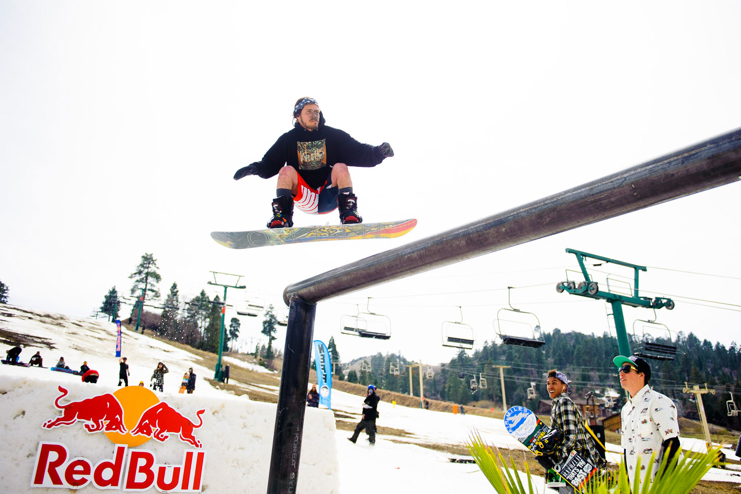 A participant takes off from one of the many jumps created for the Red Bull Switchboard event.