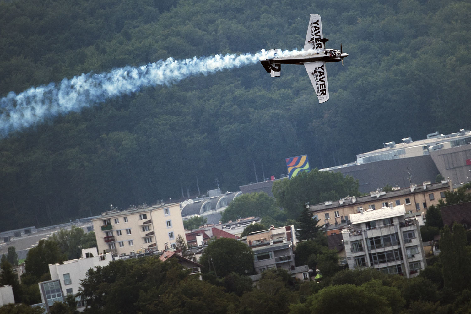Hannes Arch of Austria performs during the finals for the fourth stage of the Red Bull Air Race World Championship in Gdynia, Poland.