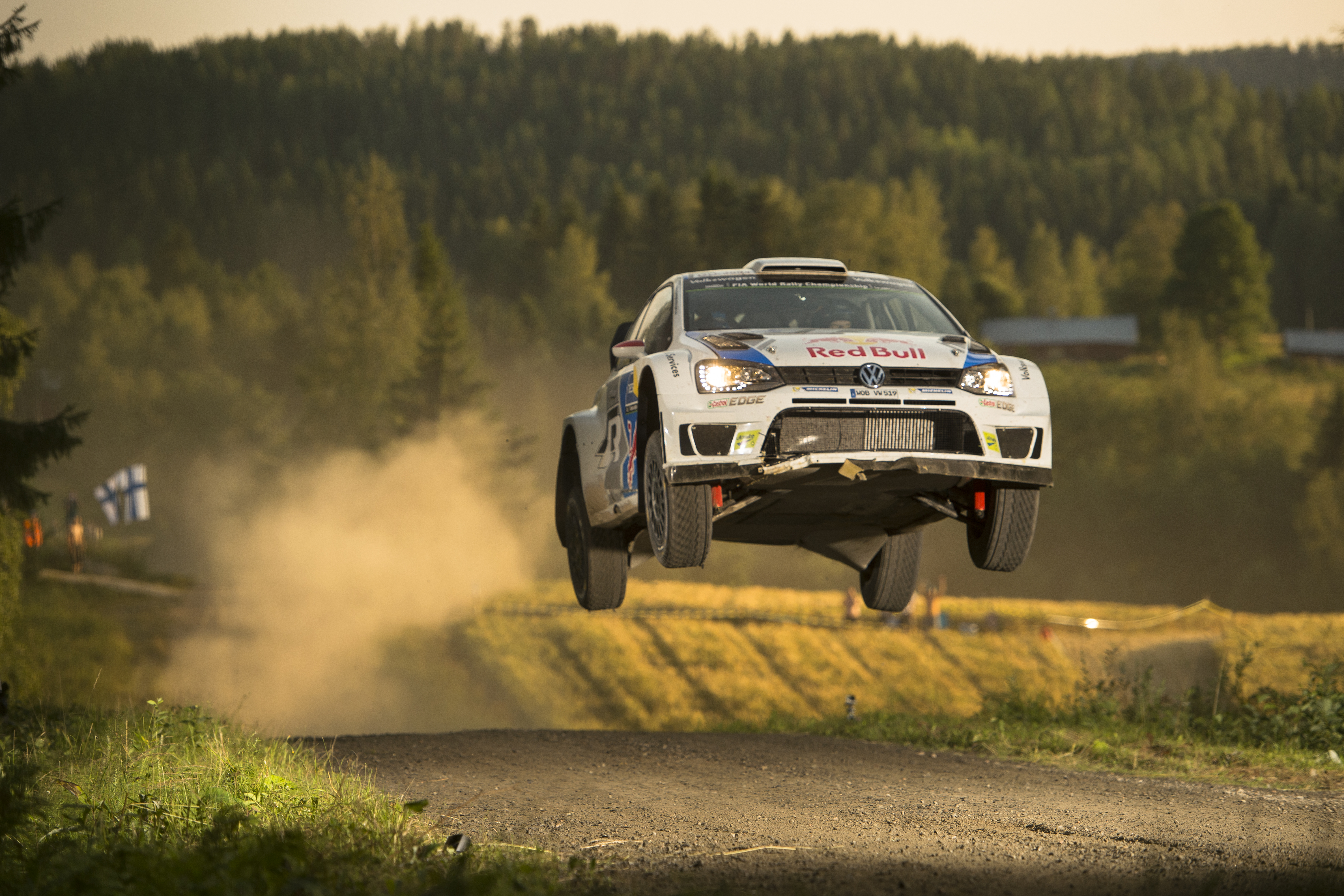 Latvala of Finland races at the FIA World Rally Championship in Jyvaskyla, Finland