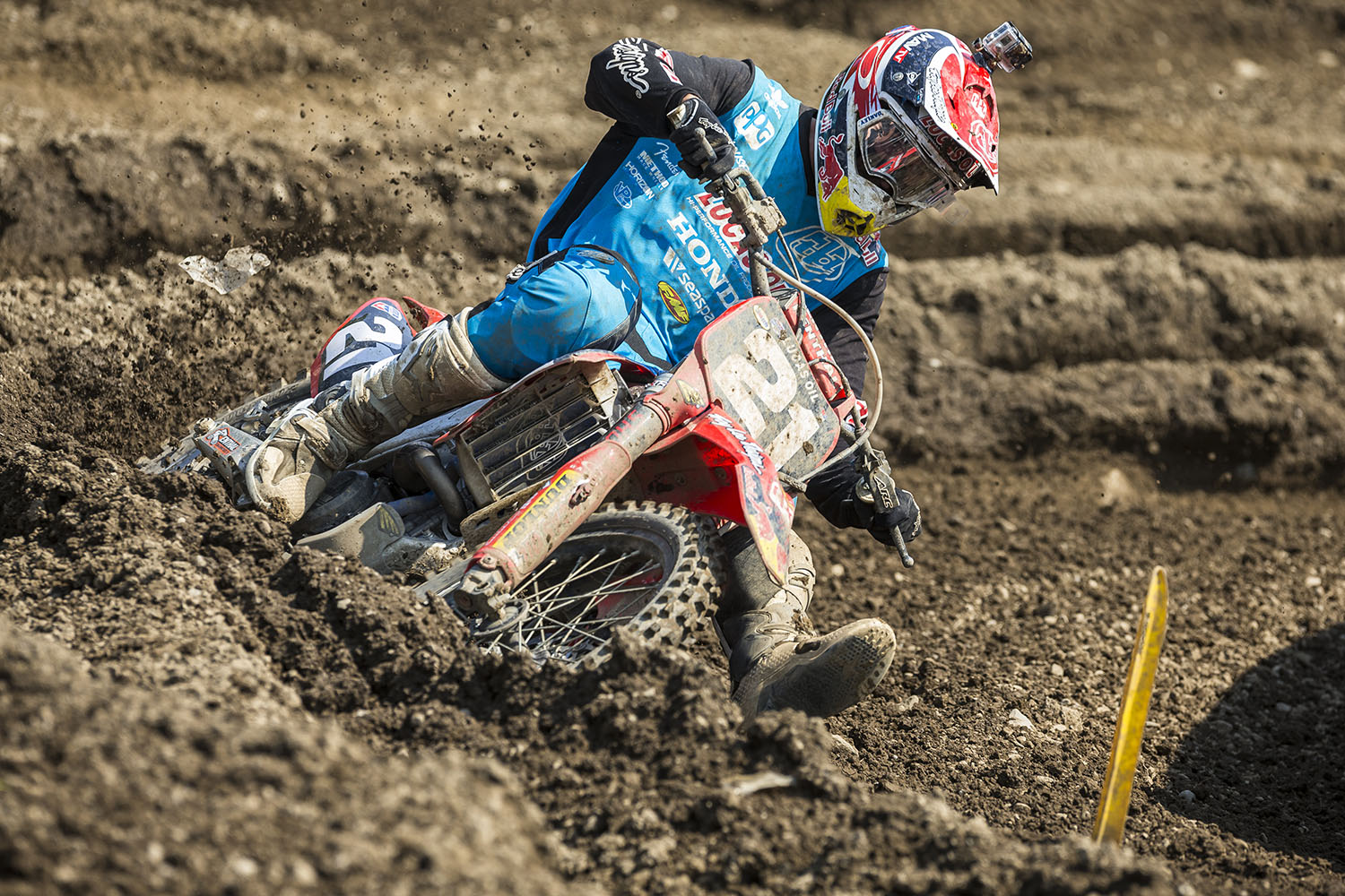 Cole Seely competes in the AMA Pro Motocross Championships at Unadilla Valley Sports Center in New Berlin, New York on August 9th, 2014.