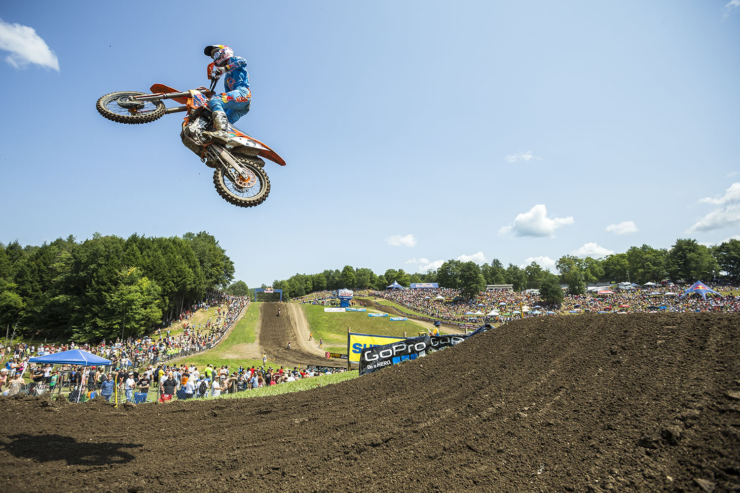 Ryan Dungey competes in the AMA Pro Motocross Championships at Unadilla Valley Sports Center in New Berlin, New York on August 9th, 2014.